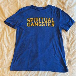 Spiritual Gangster Blue T Shirt Short Sleeve